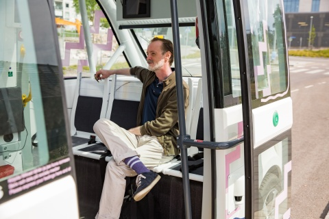 man on shuttle